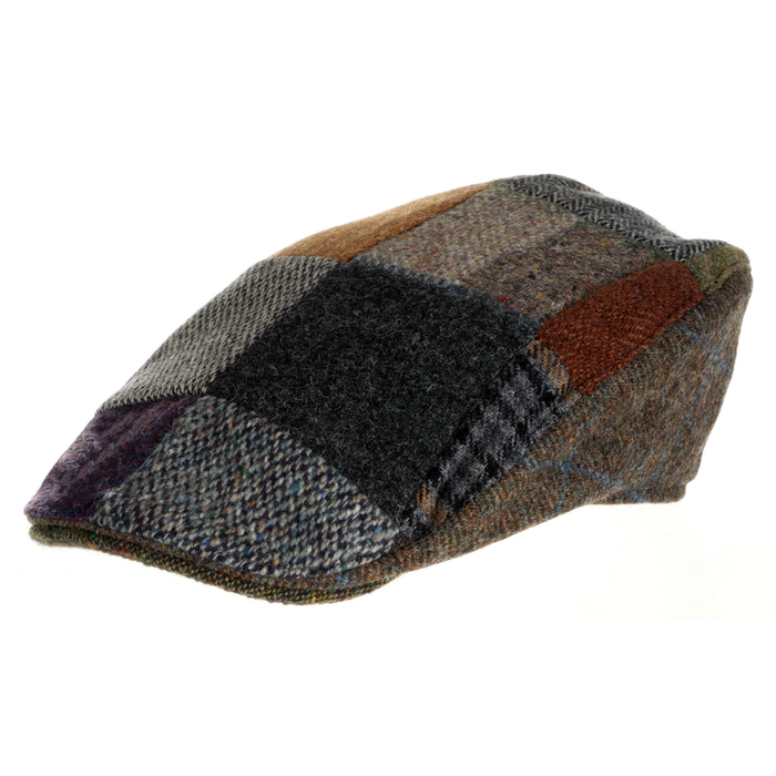 tweed wool patchwork hat