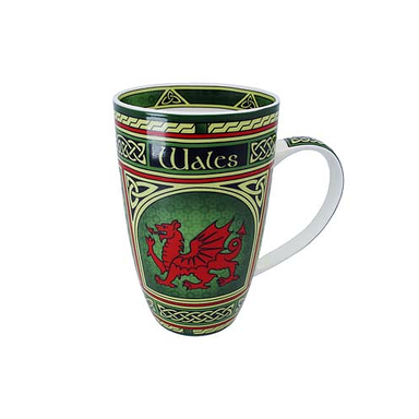 Welsh Dragon Celtic Window Mug