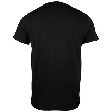 back of embossed black t-shirt by guinness