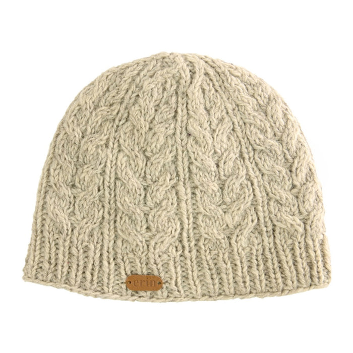 Pull On Aran Cable Hat