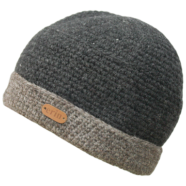 turn up wool crochet beanie by erin knitwear