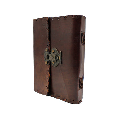 front of leather journal with snap closure by fantasy gifts