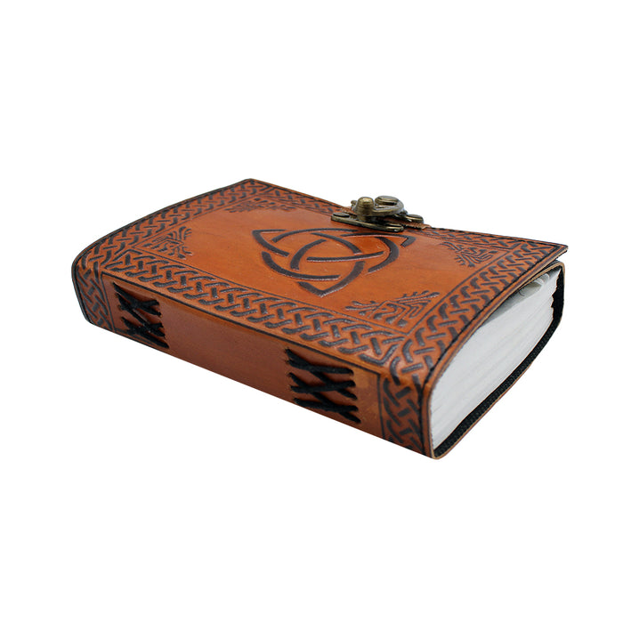 triquetra 2 tone leather embossed journal by fantasty gifts