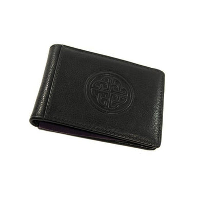 black fergal celtic knot clip wallet by lee river