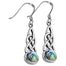 abalone celtic knot earrings by fine art jewelry