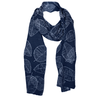 McKernan Reversible Leaf Design 100% Knitted Wool Scarves