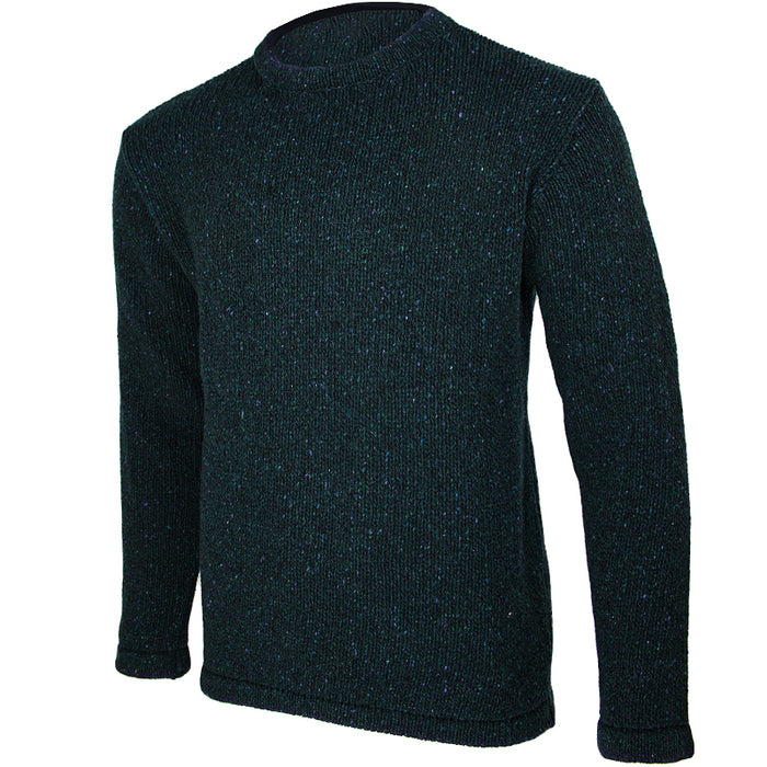 side view of irelands eye mens irish pullover sweater