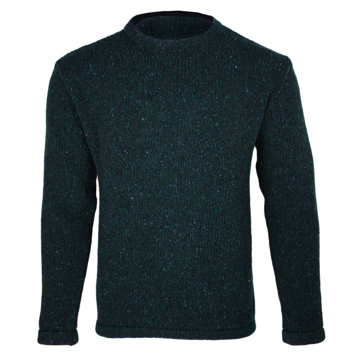 back view of irelands eye mens irish pullover sweater