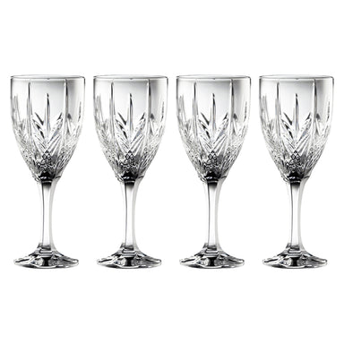galway crystal goblet set of 4
