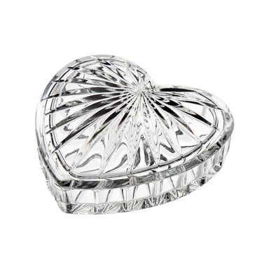heart trinket glass box by galway crystal