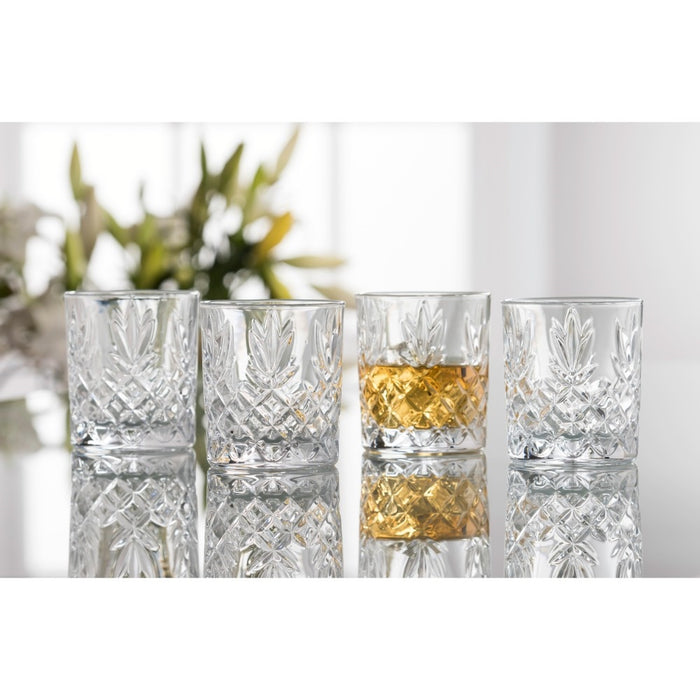 renmore d.o.f glass set of 4 by galway crystal