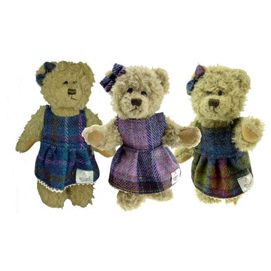 Girl Teddy Bear Harris Tweed Clothing