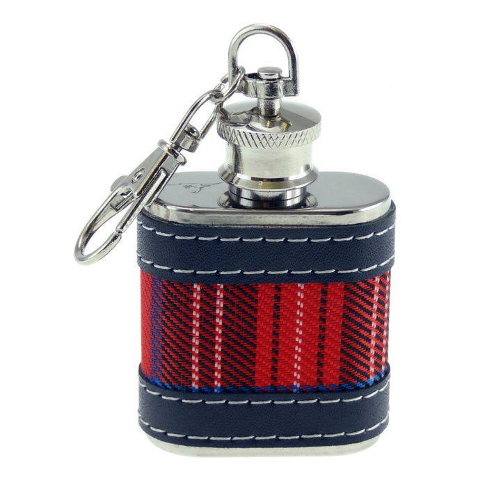 tartan hip flask keyring by glen appin