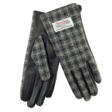 color 61 leather and tweed gloves by glen appin