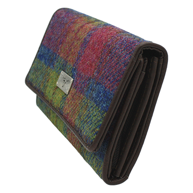 side view of large harris tweed hand purse color 46 by glen appin