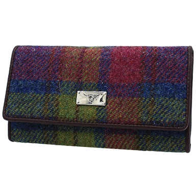 front of large harris tweed hand purse color 46 by glen appin