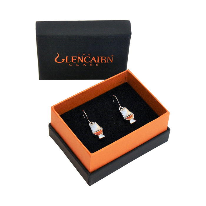 glencairn whiskey glass earrings