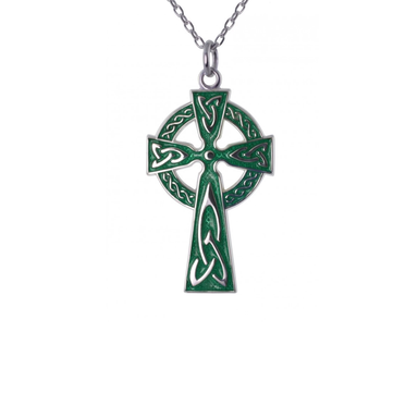 green enamel cross by jmh
