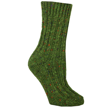 green wool socks