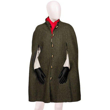 celtic ladies tweed green cape open