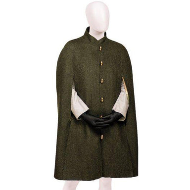 Celtic Ladies Tweed Green Cape
