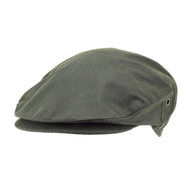 front of green men's wax cap by hanna hats