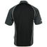 back of  black and grey panelled performance golf jersey shirt by guinness