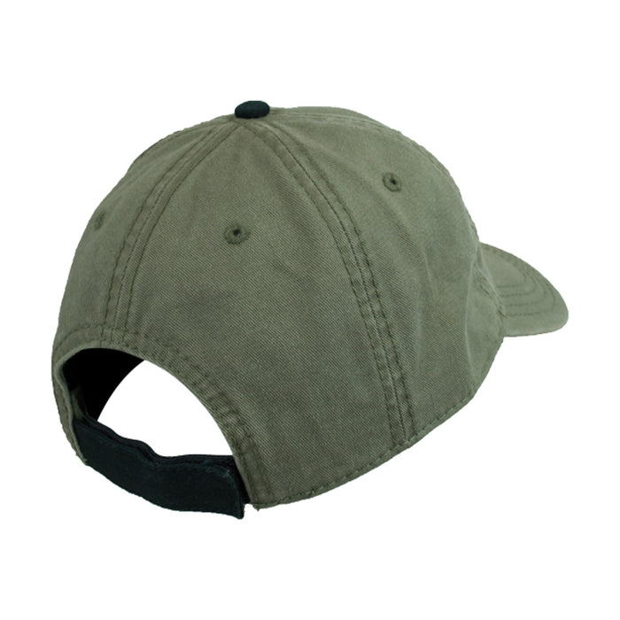 back of guinness green embroidered harp cap