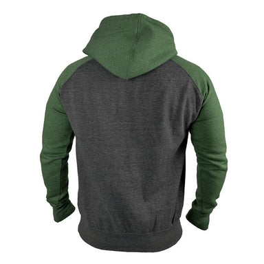 back of grey and green hoodie by guinness