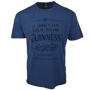 front of vintage blue tee by guinness