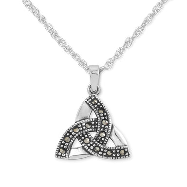 trinity knot marcasite pendant by hamilton and young