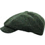 side view of closed abbey tweed cap with extended bill by hanna hats