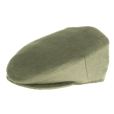 green vintage linen cap by hanna hats of donegal