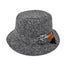 black salt and pepper  traditional wool irish walking hat by hanna hats