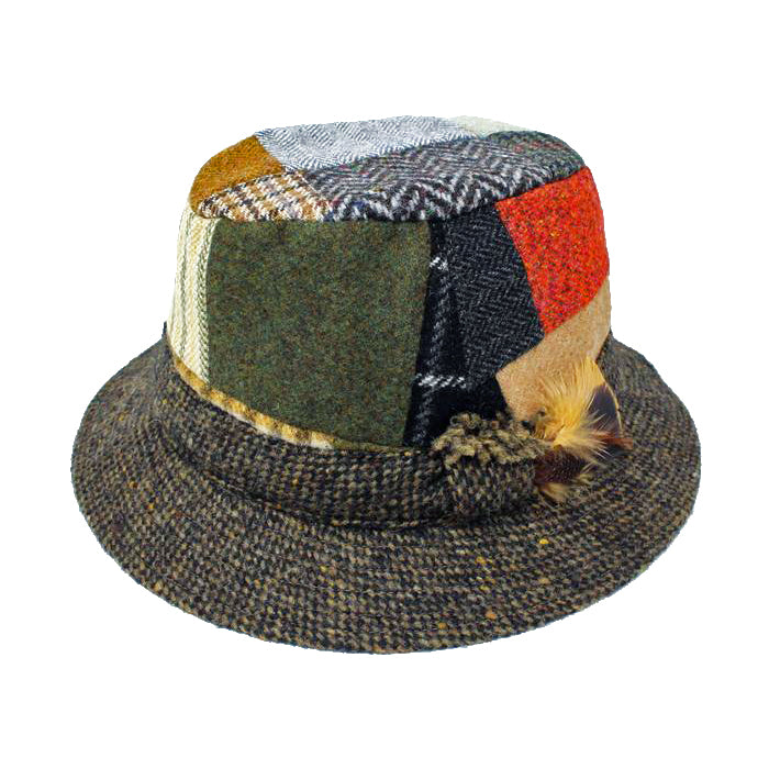 patch  traditional wool irish walking hat by hanna hats