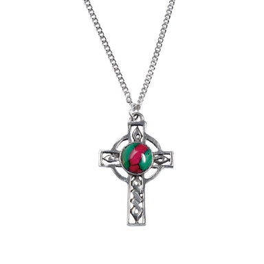 heathergems celtic cross pewter pendant