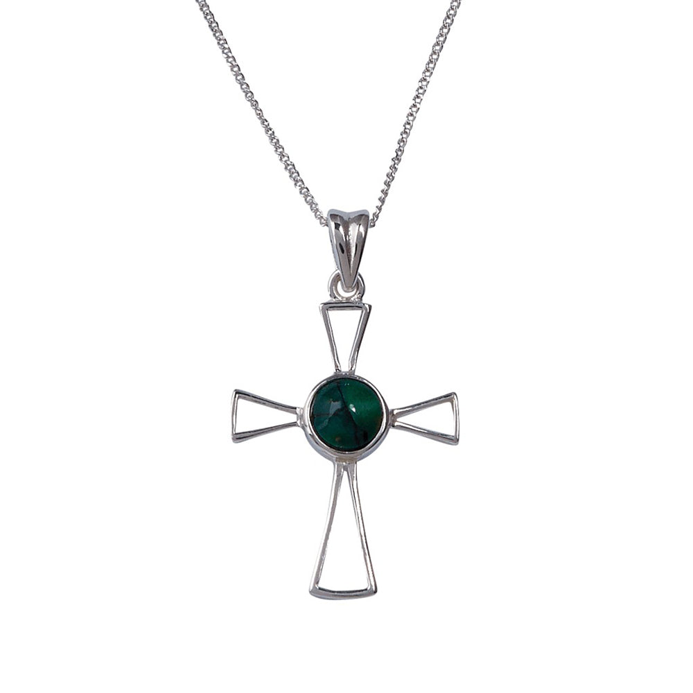 Heathergems Delicate Open Cross Pendant (SP312)