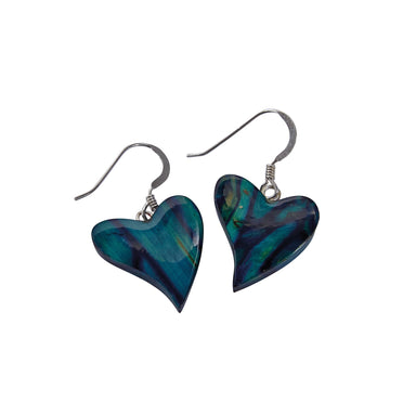 heathergems quirky heart heather earrings