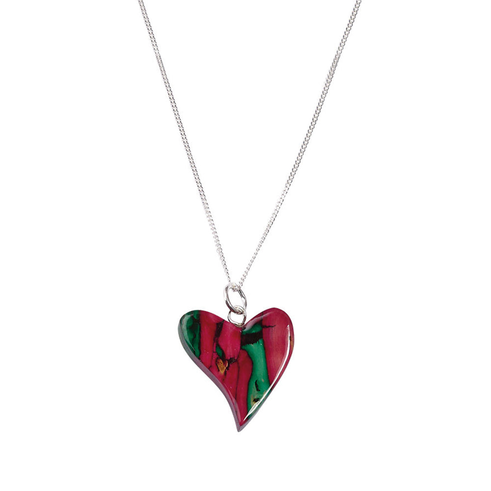 Heathergems Quirky Heart Heather Pendant (SP64)