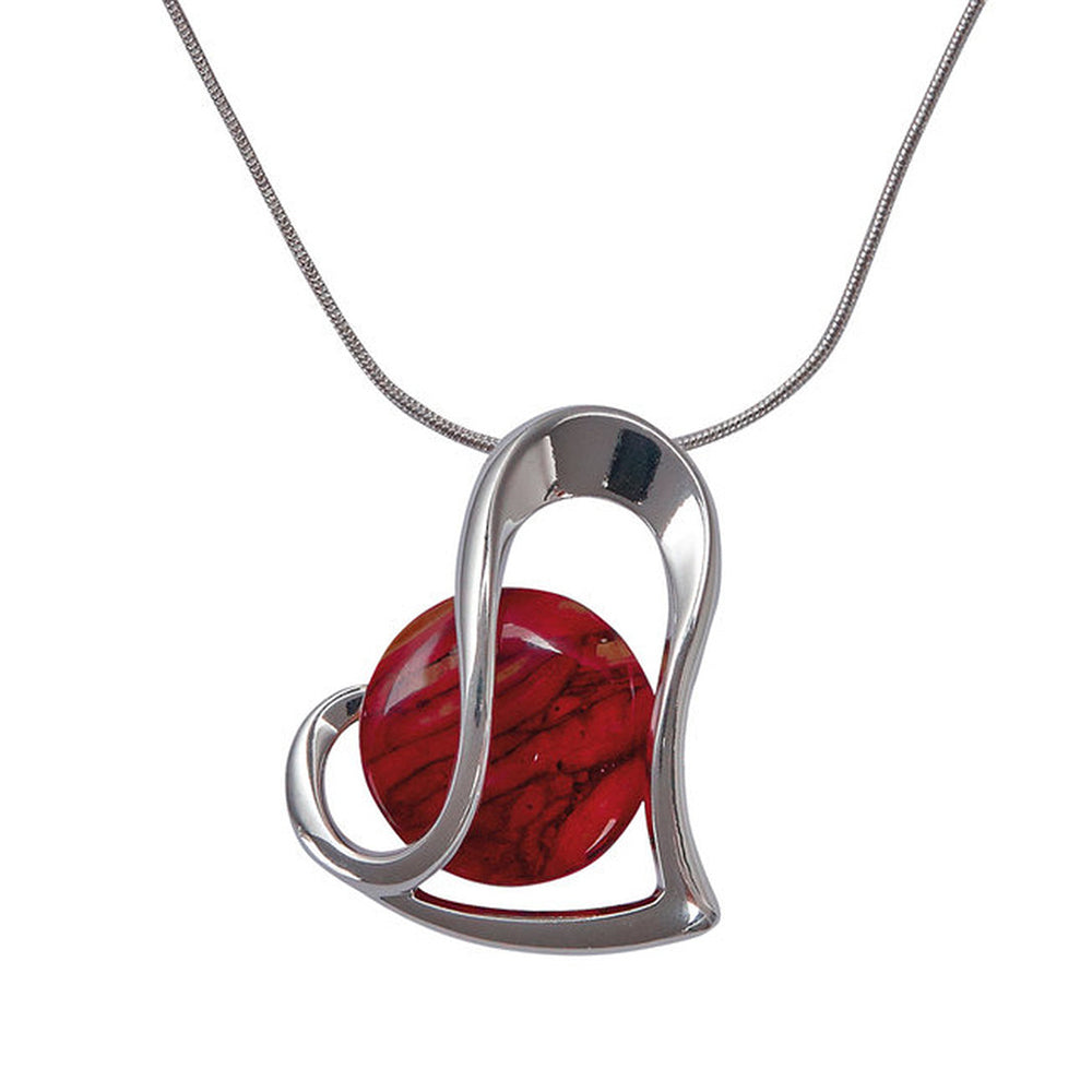 Heathergems Silver Plated Heart Pendant (HP94)
