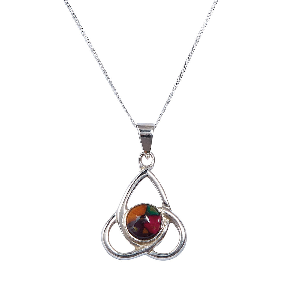 Heathergems Sterling Silver Trinity Pendant (SP424)