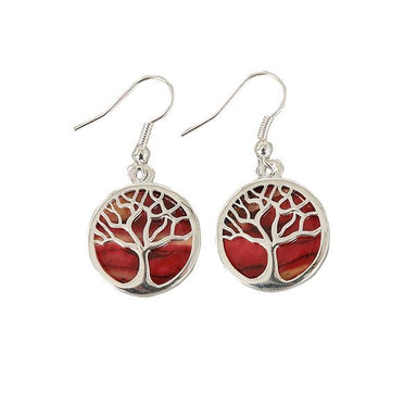 tree of life plated earrings by heathergems