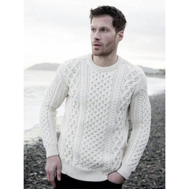 heavyweight honeycomb pullover sweater by irelands eye knitwear