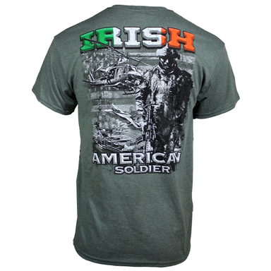 back of irish american t-shirt