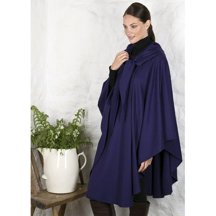 model of purple blue irish cape by jimmy hourihan
