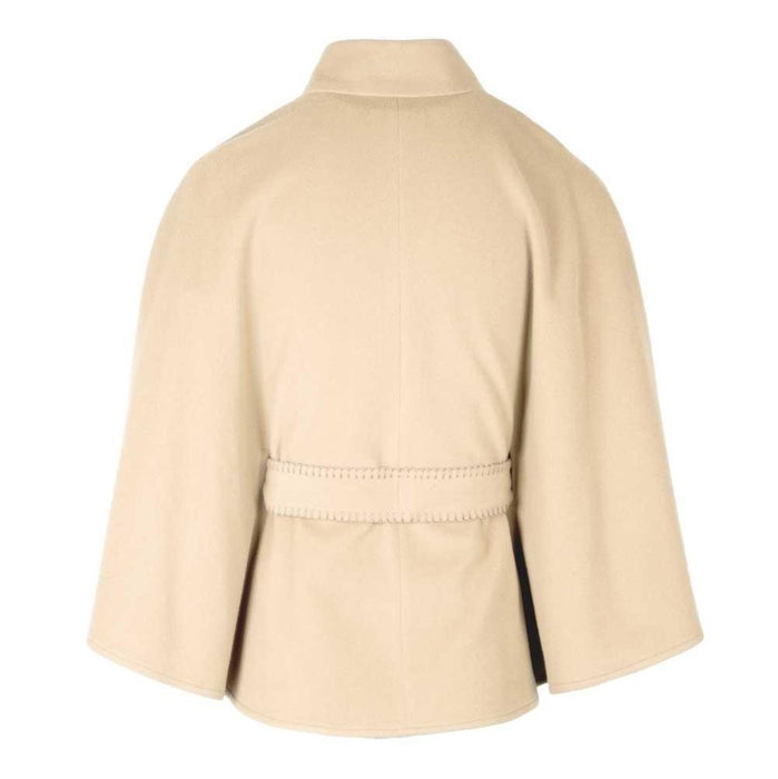 back of cream alcon cape by jimmy hourihan