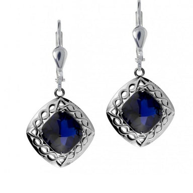 celtic knot cable weave doublet drop earrings by jmh