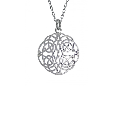 large celtic knot sterling silver pendant