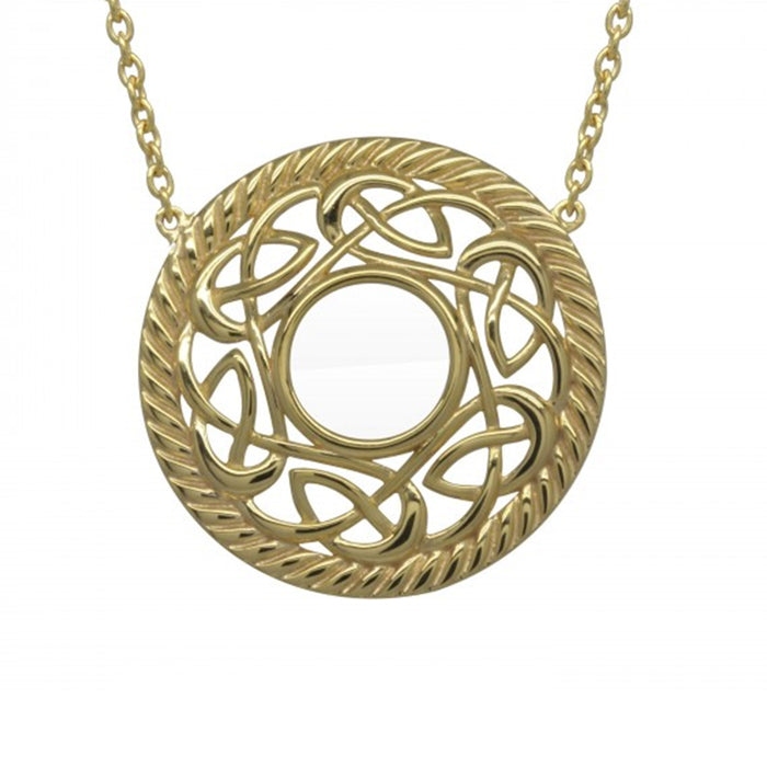 gold plated celtic necklace by jmh