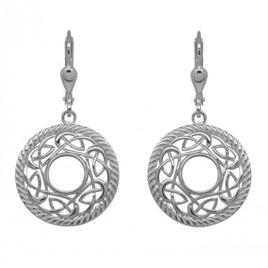 rhodium plated earrings by jmh
